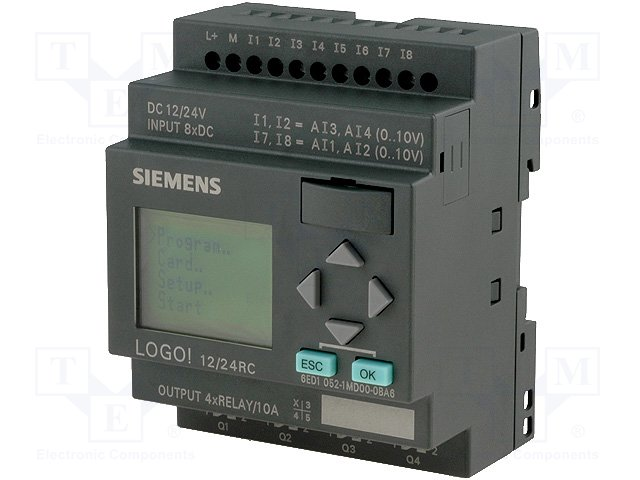 Реле прогр. основные модули,SIEMENS,6ED1052-1MD00-0BA6