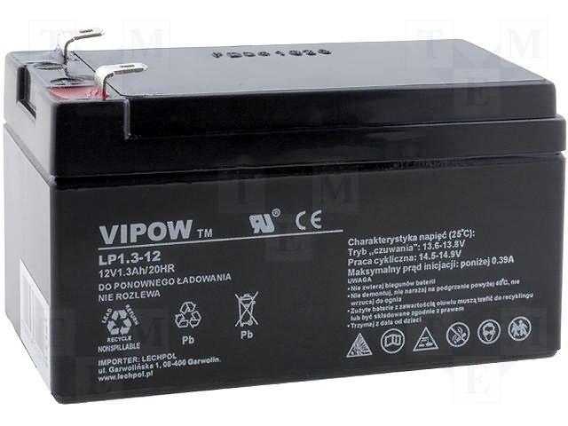 Аккумуляторы кислотные,VIPOW,ACCU-HP1.3-12