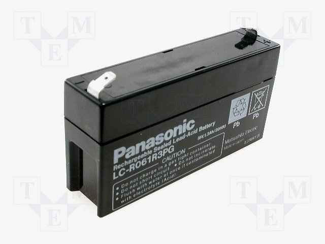 Аккумуляторы кислотные,PANASONIC,LC-R061R3P