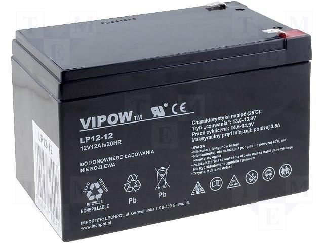 Аккумуляторы кислотные,VIPOW,ACCU-HP12-12