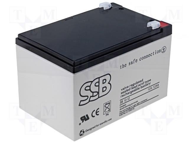 Аккумуляторы кислотные,SSB,SB12-12