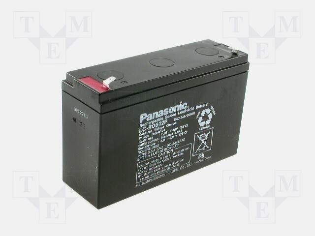 Аккумуляторы кислотные,PANASONIC,LC-R0612P