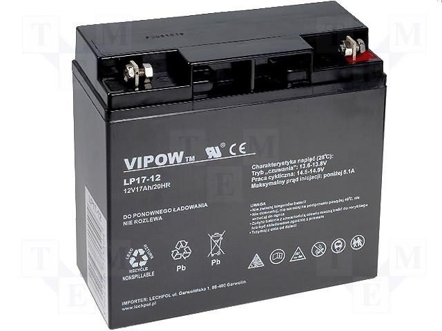 Аккумуляторы кислотные,VIPOW,ACCU-HP17-12