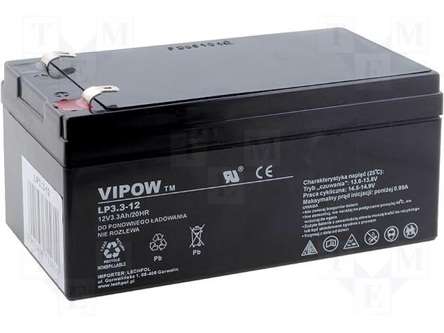 Аккумуляторы кислотные,VIPOW,ACCU-HP3.3-12