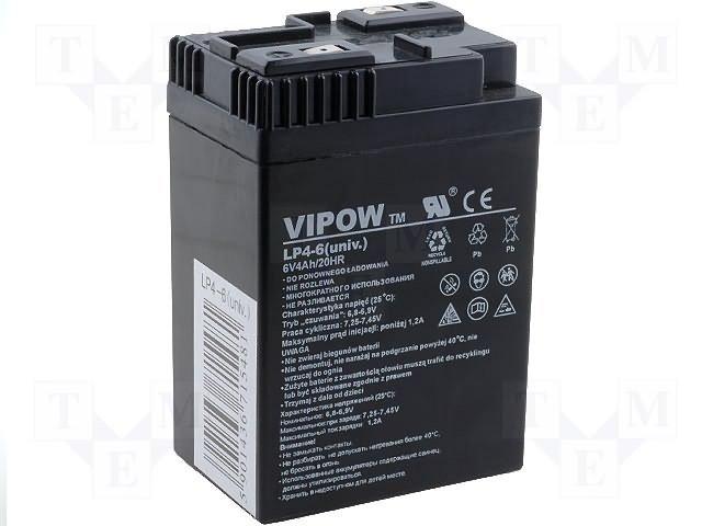 Аккумуляторы кислотные,VIPOW,ACCU-HP4-6