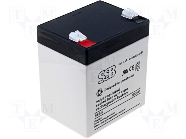 Аккумуляторы кислотные,SSB,SB5-12