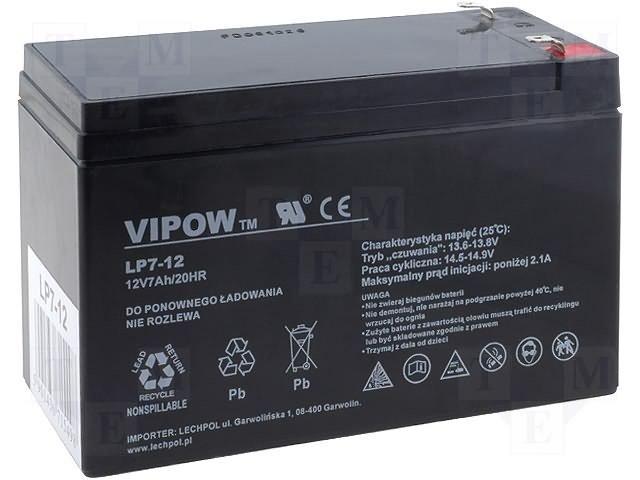 Аккумуляторы кислотные,VIPOW,ACCU-HP7-12