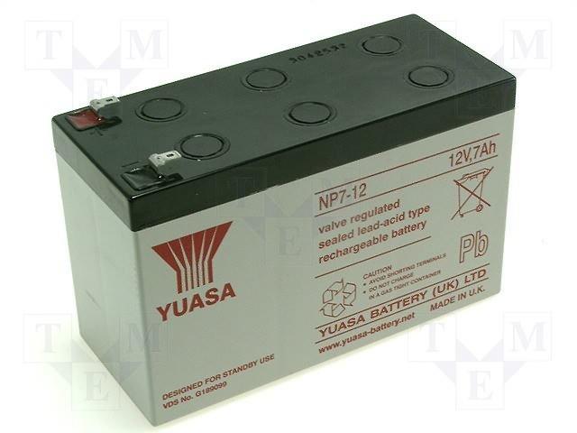 Аккумуляторы кислотные,YUASA,NP7-12
