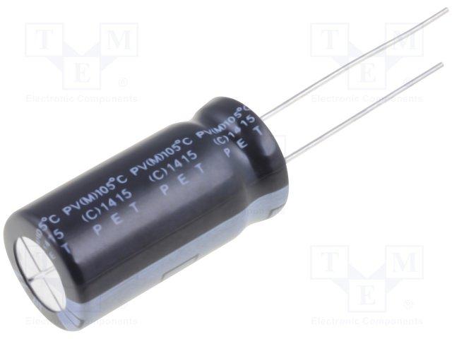 Конденсаторы электролитические THT 105°C,ELITE,PV2G220MNN1225